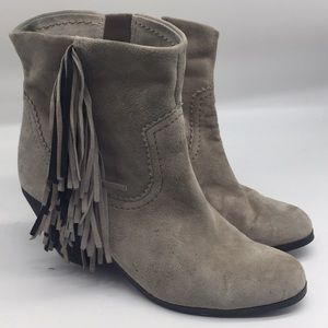 Sam Edelman Louie Fringe Suede Ankle Boots